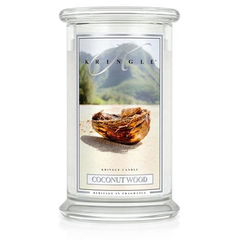 Kringle Candle Coconut Wood Large 2 Wick Jar Candle