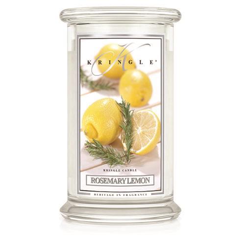 Kringle Candle Rosemary Lemon Large 2 Wick Jar Candle