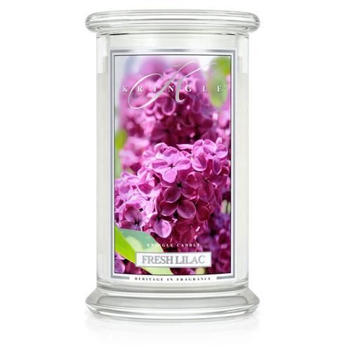 Kringle Candle Fresh Lilac Large 2 Wick Jar Candle