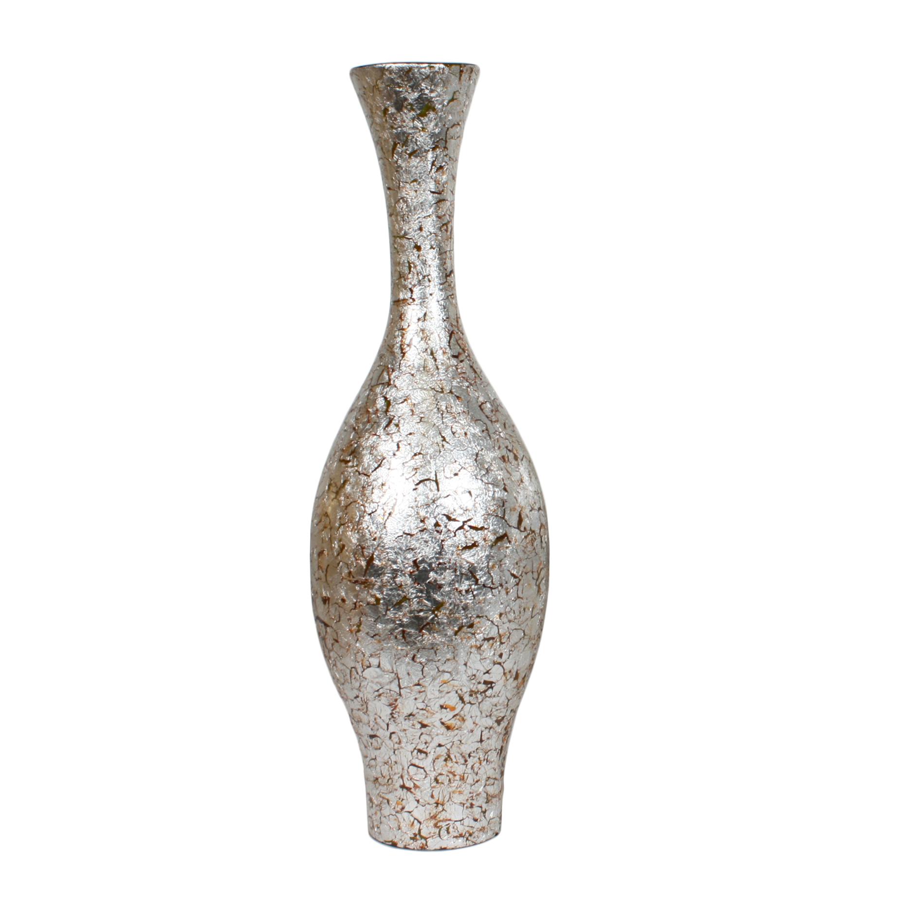 Silver Crush Vase 60cm