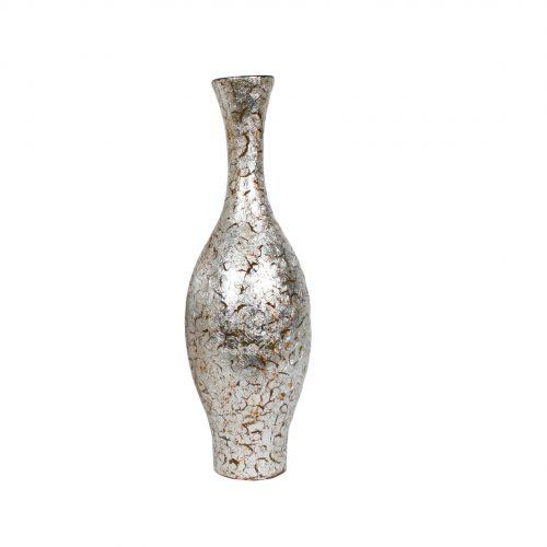 Silver Crush Vase 50cm