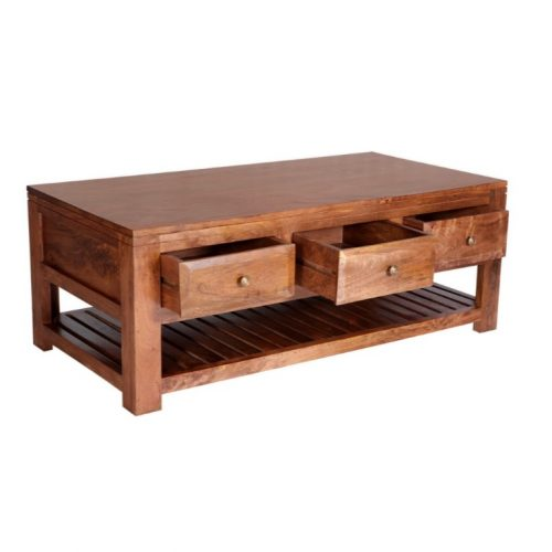 Manhattan Light Mango 3 Drawer Coffee Table