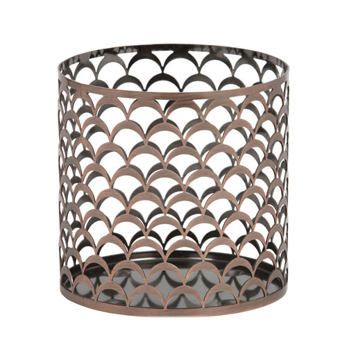 Plated Antique CopperJar Candle Holder