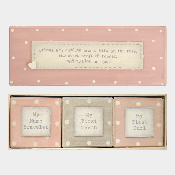 East of India Pink Baby Triple Box Set