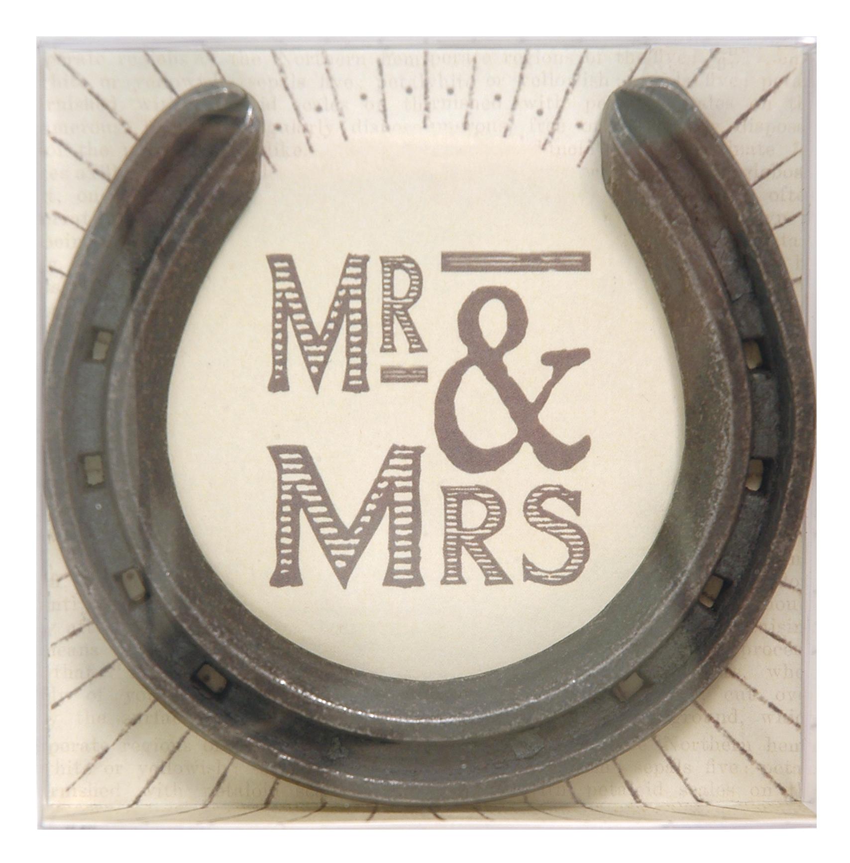 1567DH web Horseshoe in box - Mr & Mrs
