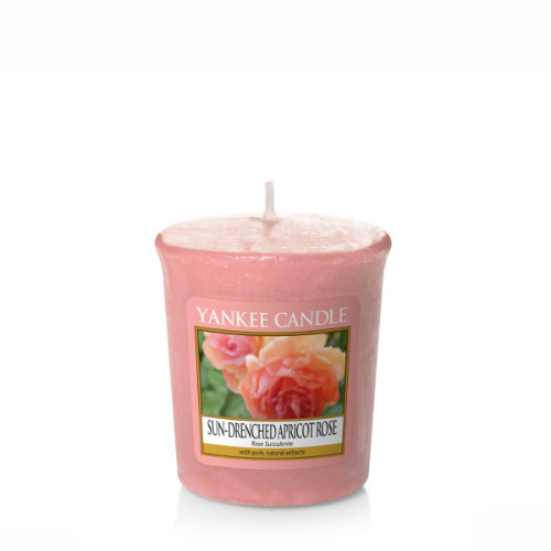 Sun-Drenched Apricot Rose Votive Candle