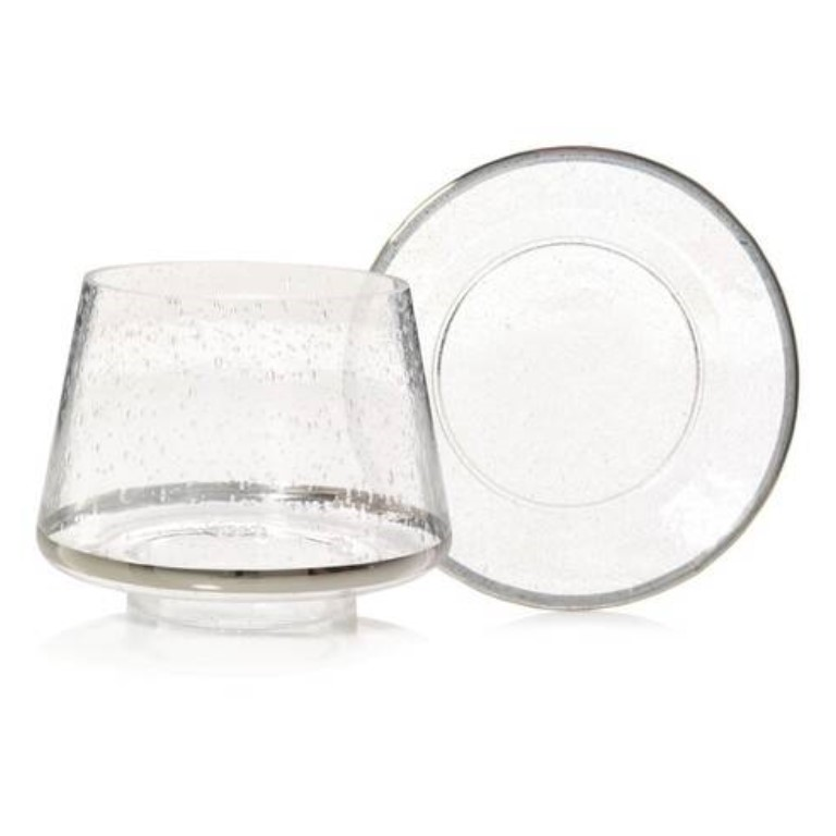 Kensington - Metallic Band on Glass Large Shade & Tray Set