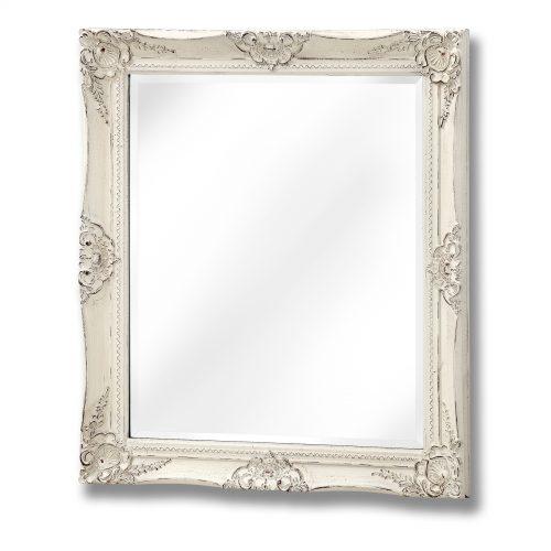 Antique White French Vintage Style Mirror