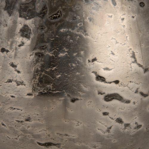 ntique Silver Mercury Bulbous Glass Vase