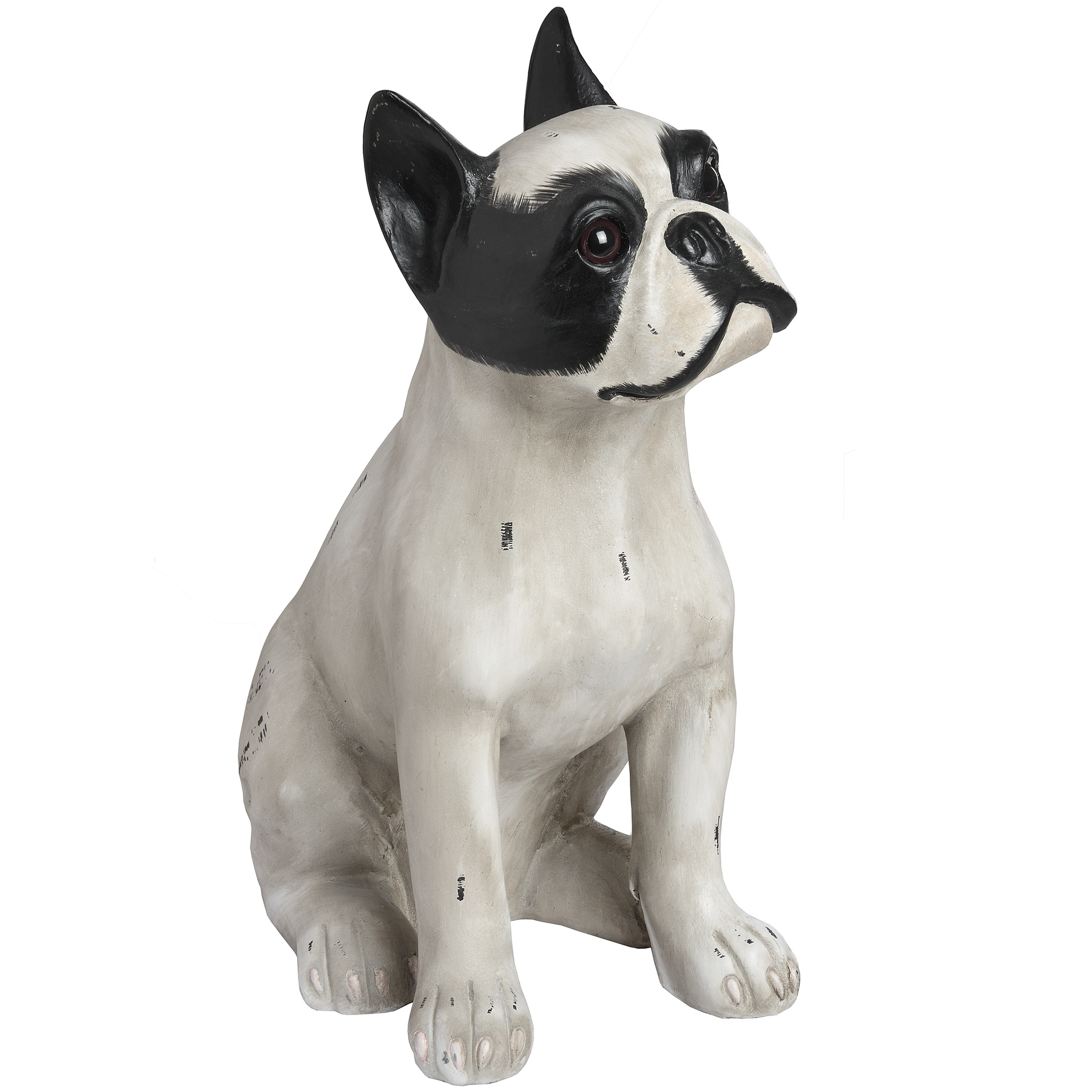 French Bull Dog Sitting Statue