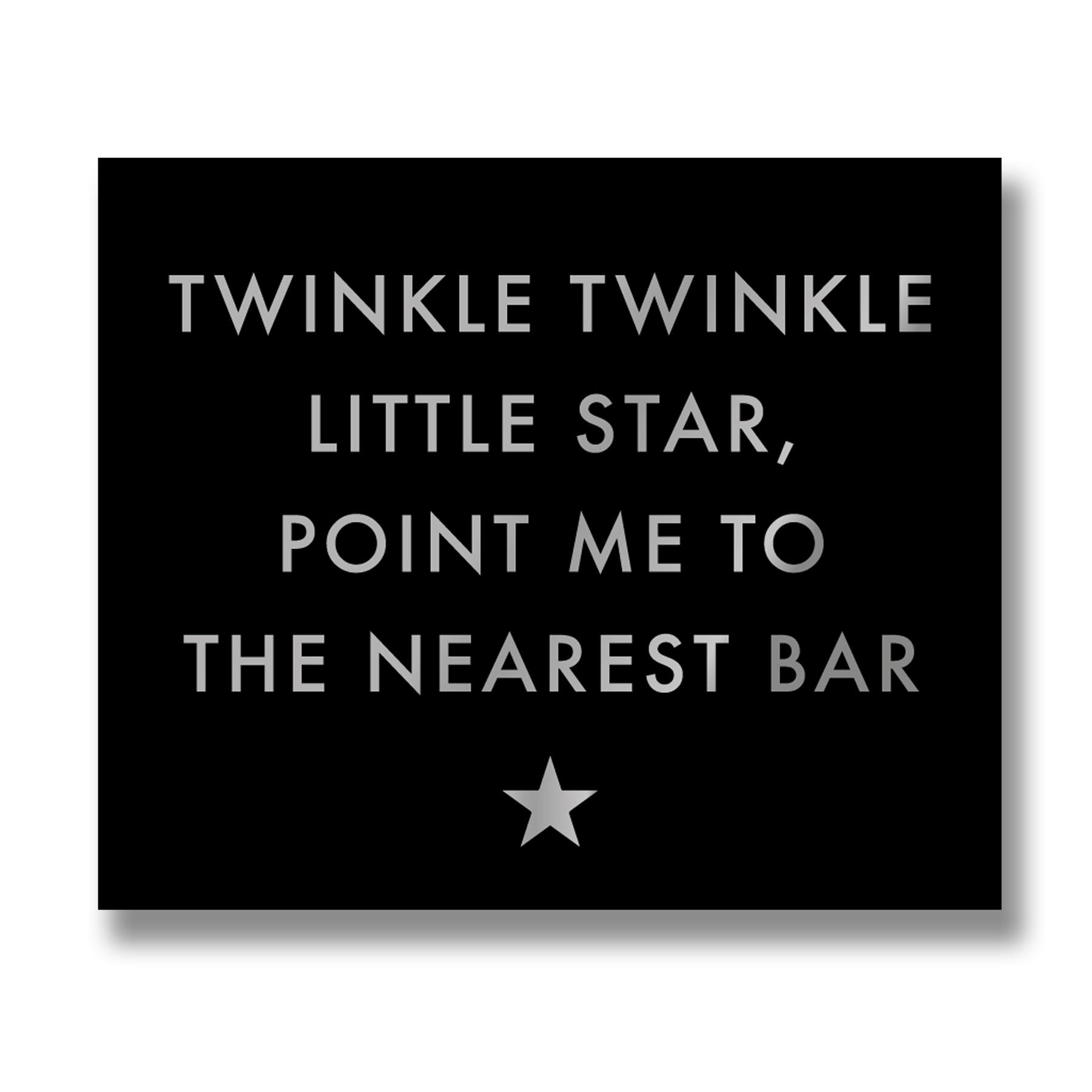 Twinkle Twinkle Gold Foil Plaque