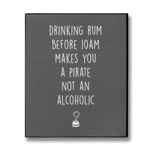 Pirate Rum Plaque