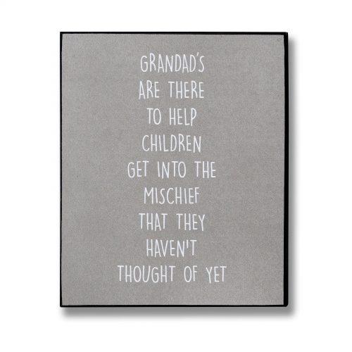 Grandad's Mischief Plaque
