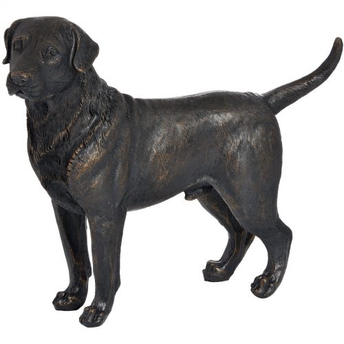Standing Labrador In Antique Bronze