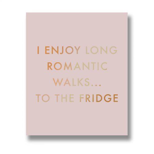 Long Romantic Walks Metallic Detail Plaque