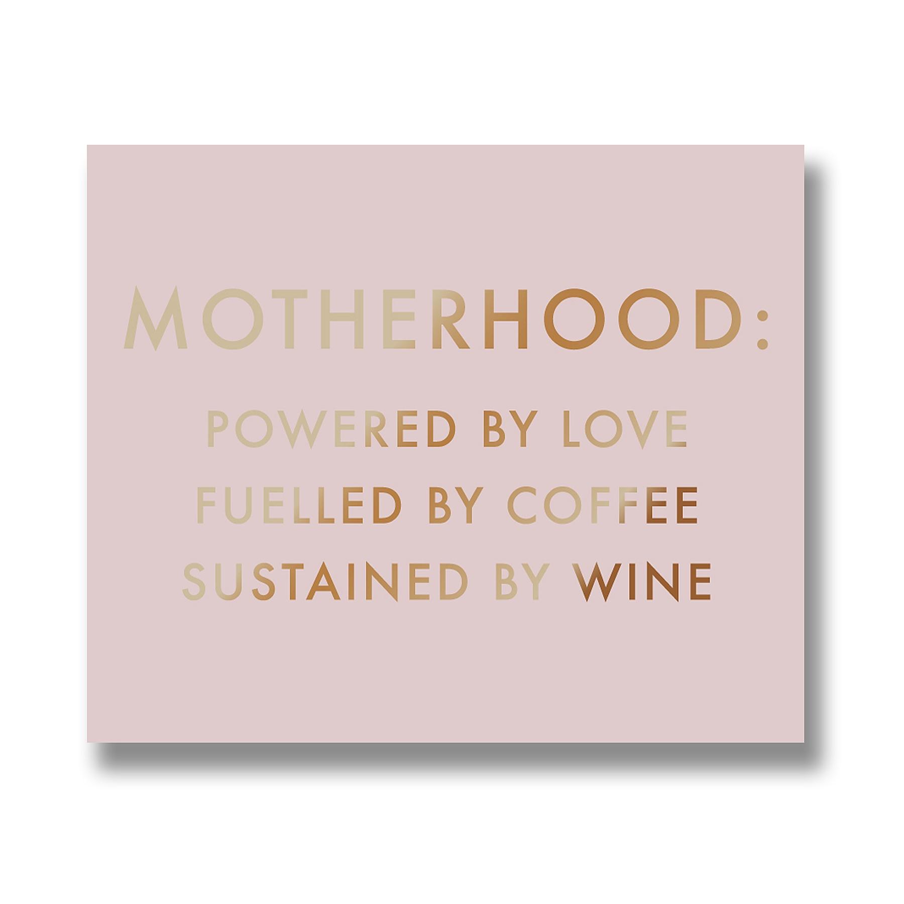 Motherhood Metallic Detail Plaque