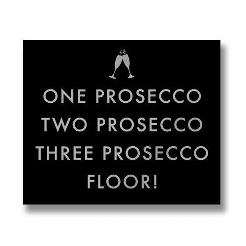 One Prosecco Metallic Detail Plaque