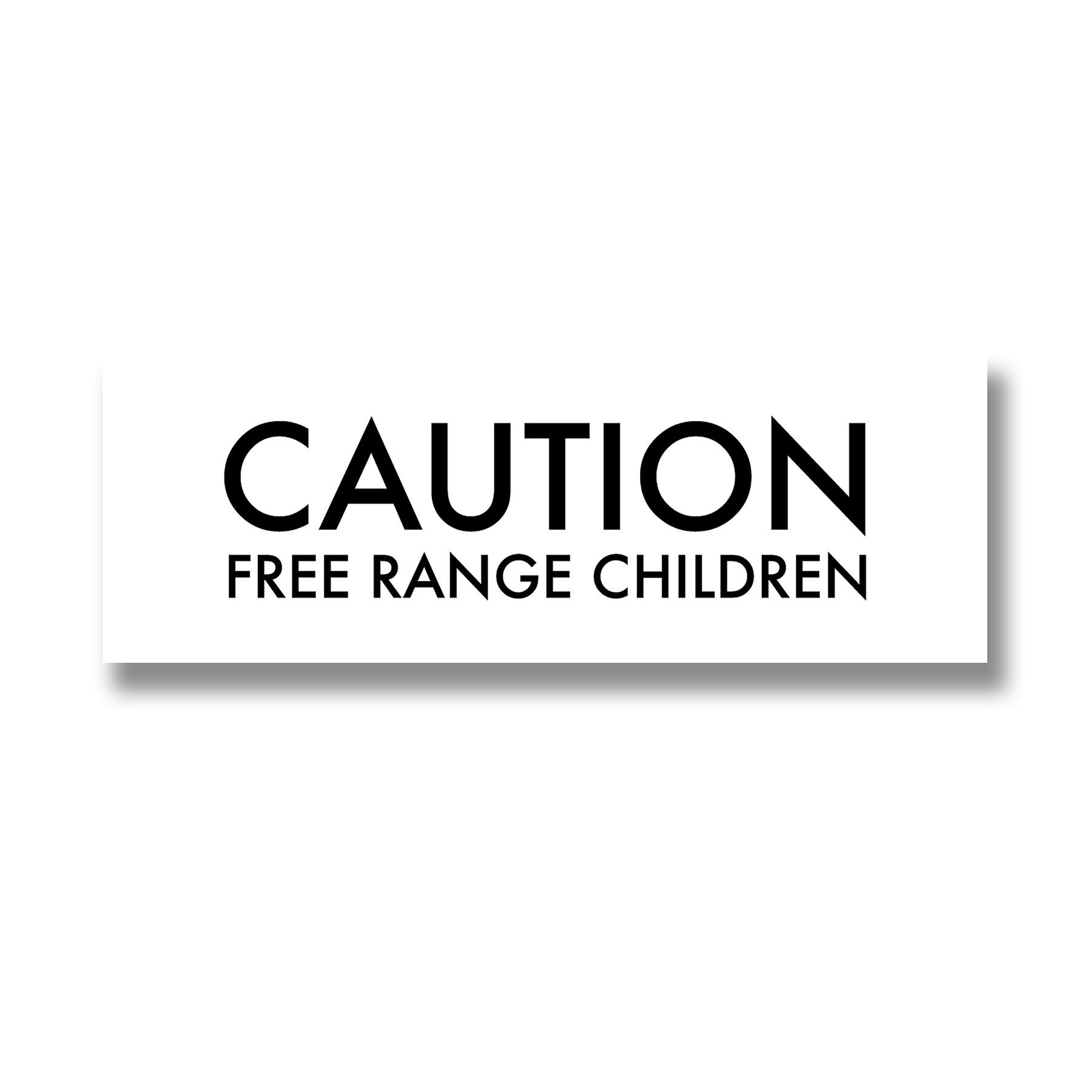 Free Range Children Metallic Detail Plaque
