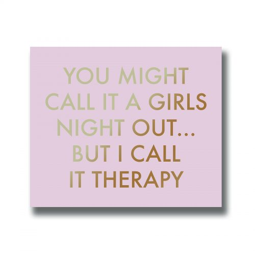 A Girls Night Out Gold Foil Plaque