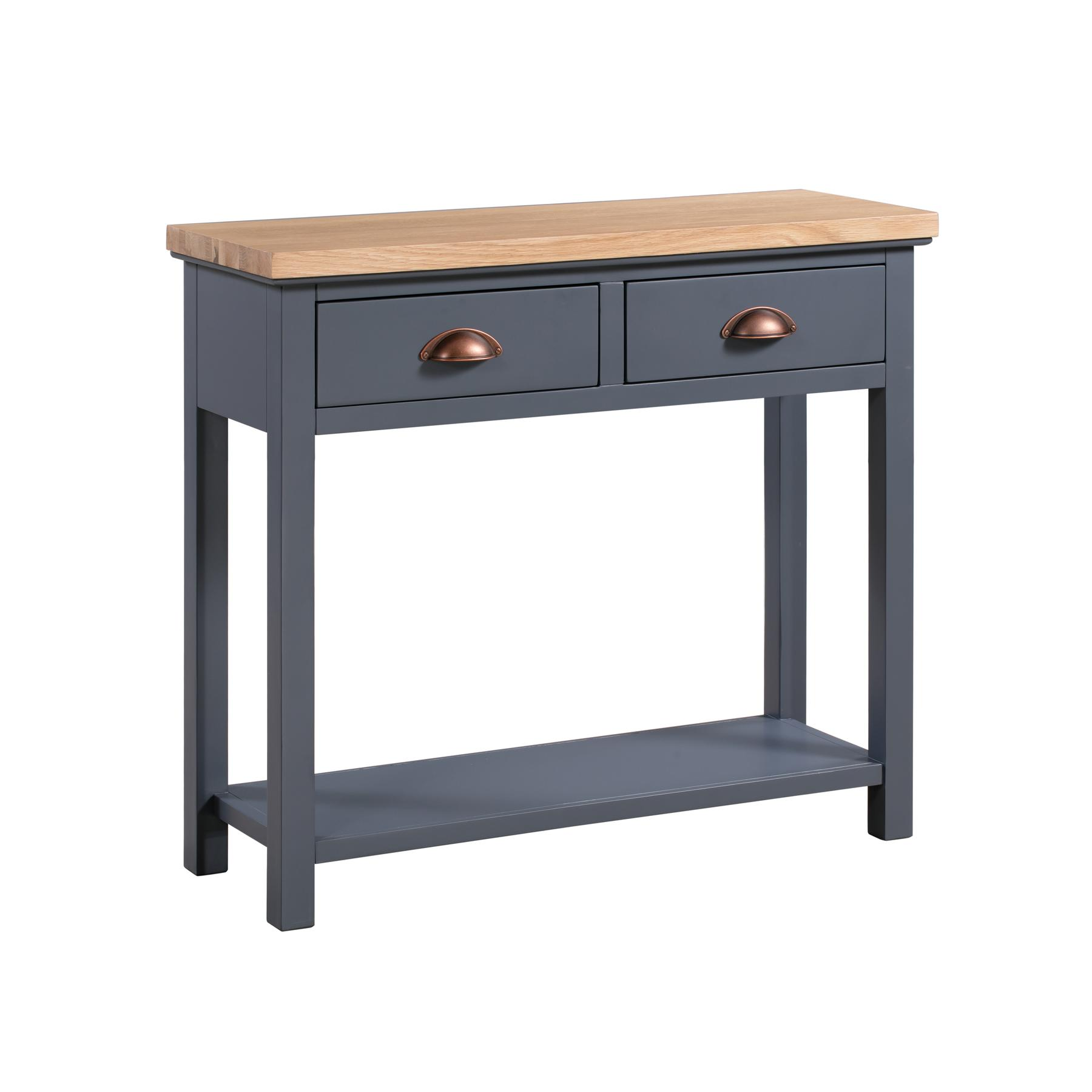 The Richmond Oak Collection Two Drawer Console Table