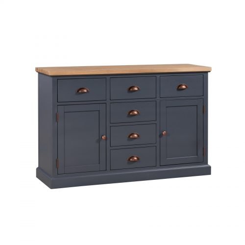 The Richmond Oak Collection Two Door Six Drawer Sideboard