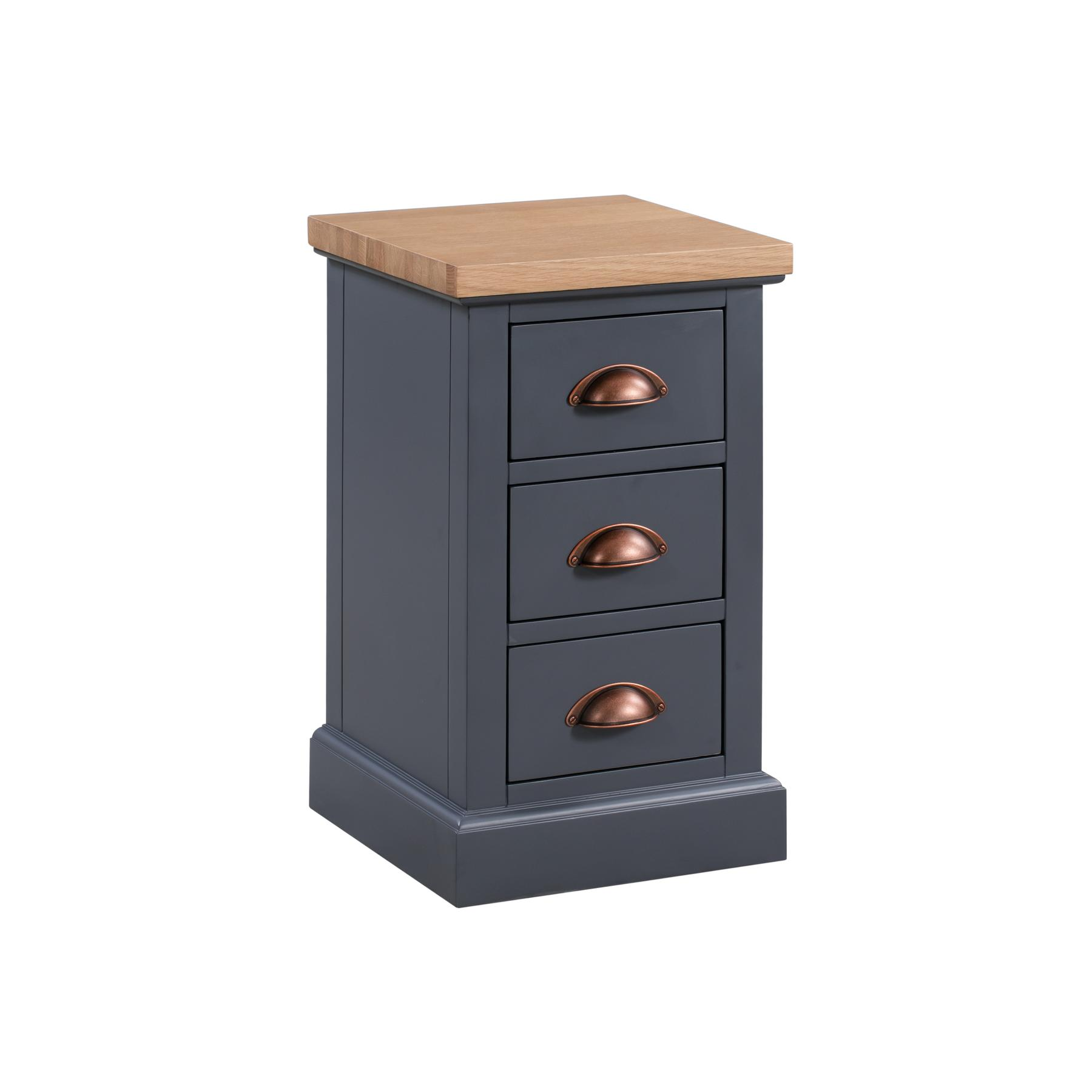 The Richmond Oak Collection Three Drawer Bedside