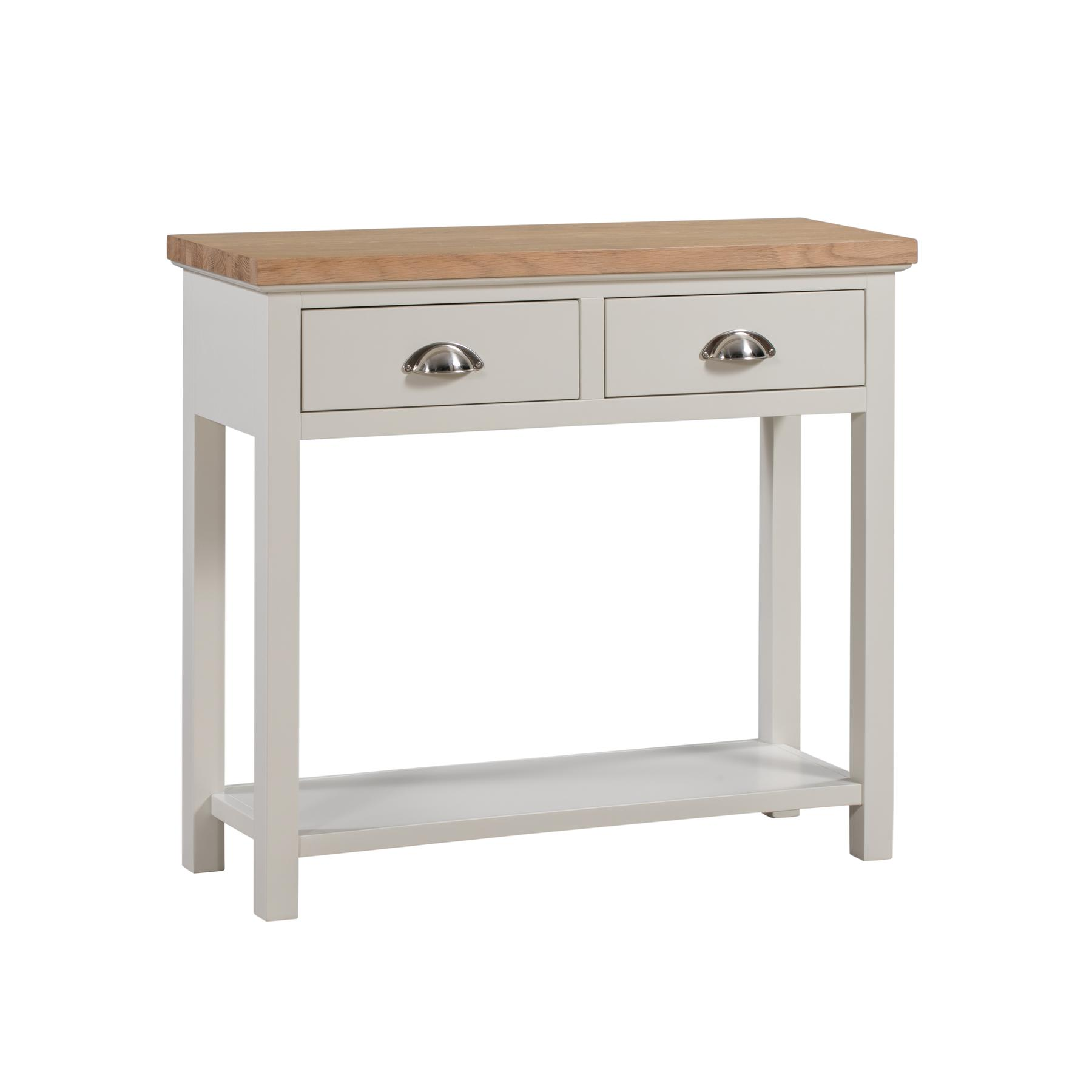 Ripley Oak Collection 2 Drawer Console Table