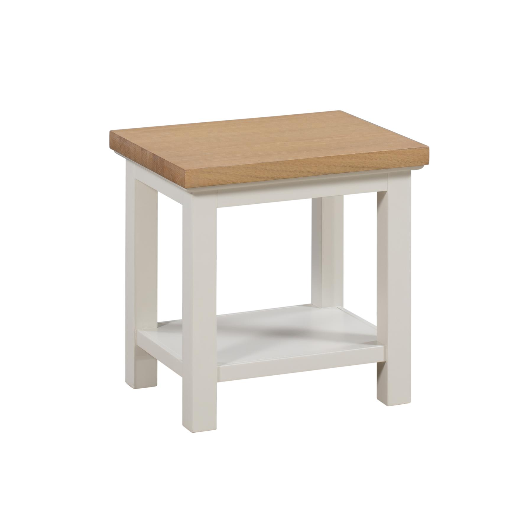 Ripley Oak Collection Lamp Table With Shelf