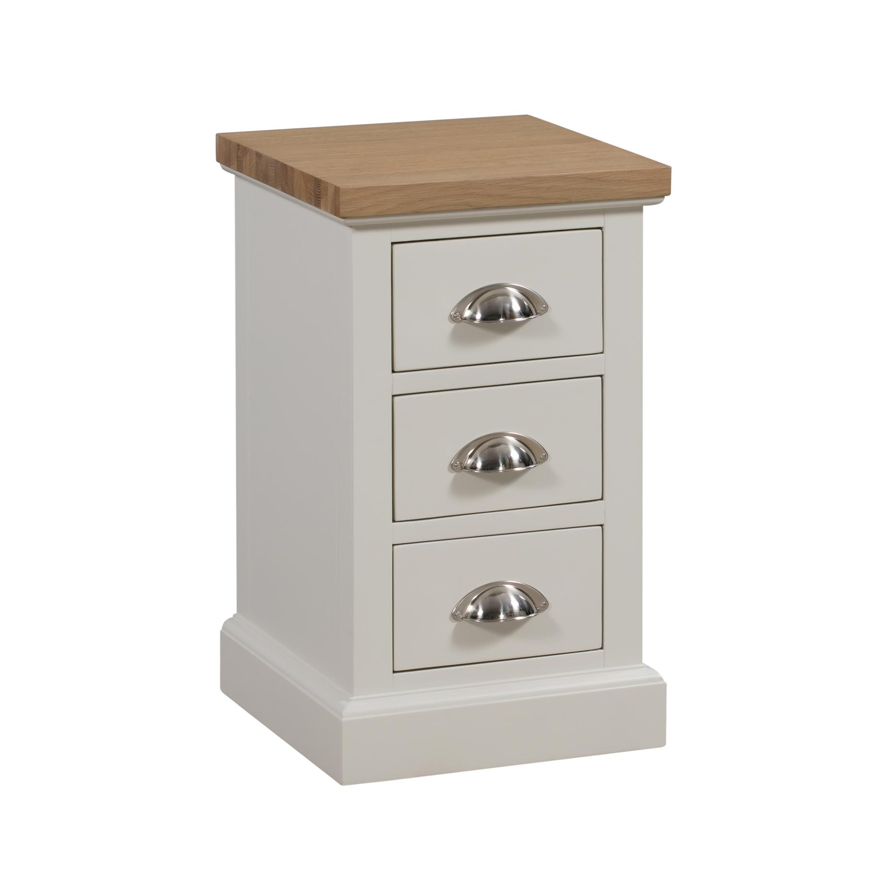 Ripley Oak Collection Three Drawer Bedside