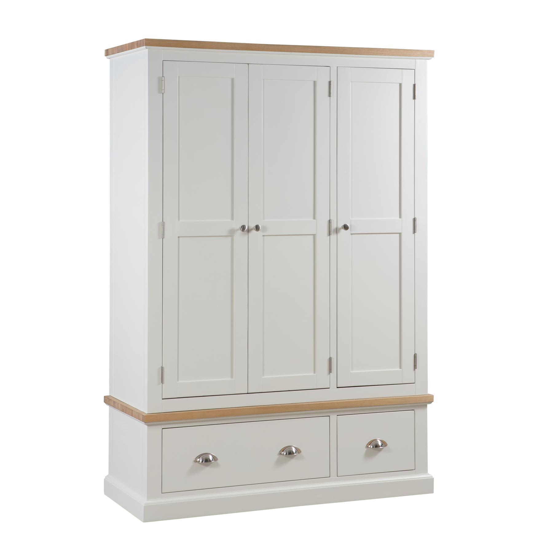 Ripley Oak Triple Over 3 Drawer Wardrobe