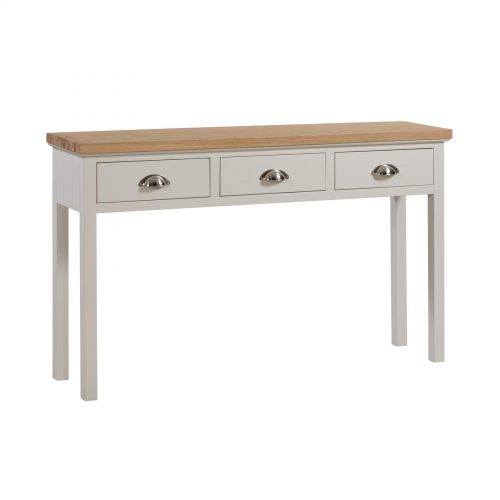 Ripley Oak Collection 3 Drawer Console Table