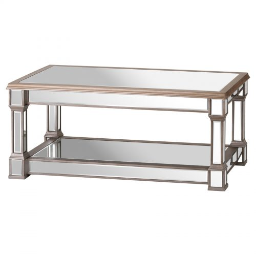 The Belfry Collection Mirrored Display Coffee Table