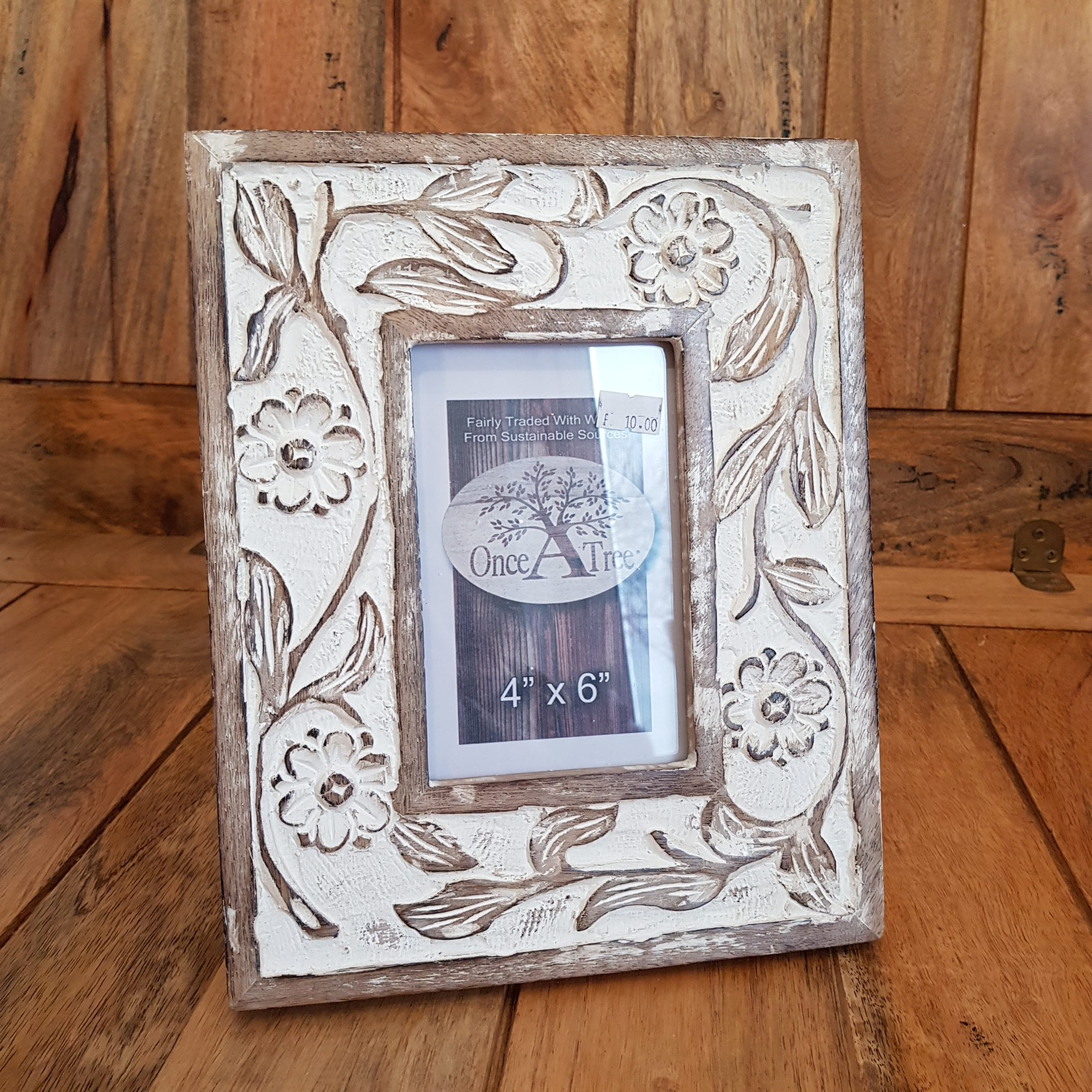 Once a Tree Flower Small Photo Frame 4x6 Inch