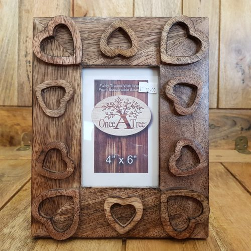 Once a Tree Heart Small Photo Frame 4x6 Inch