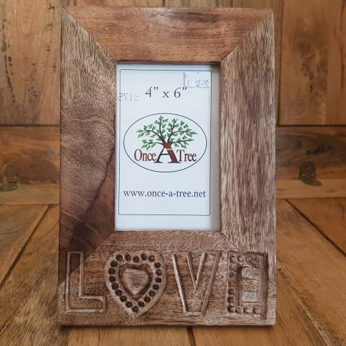 Once a Tree Love Small Photo Frame 4x6 Inch