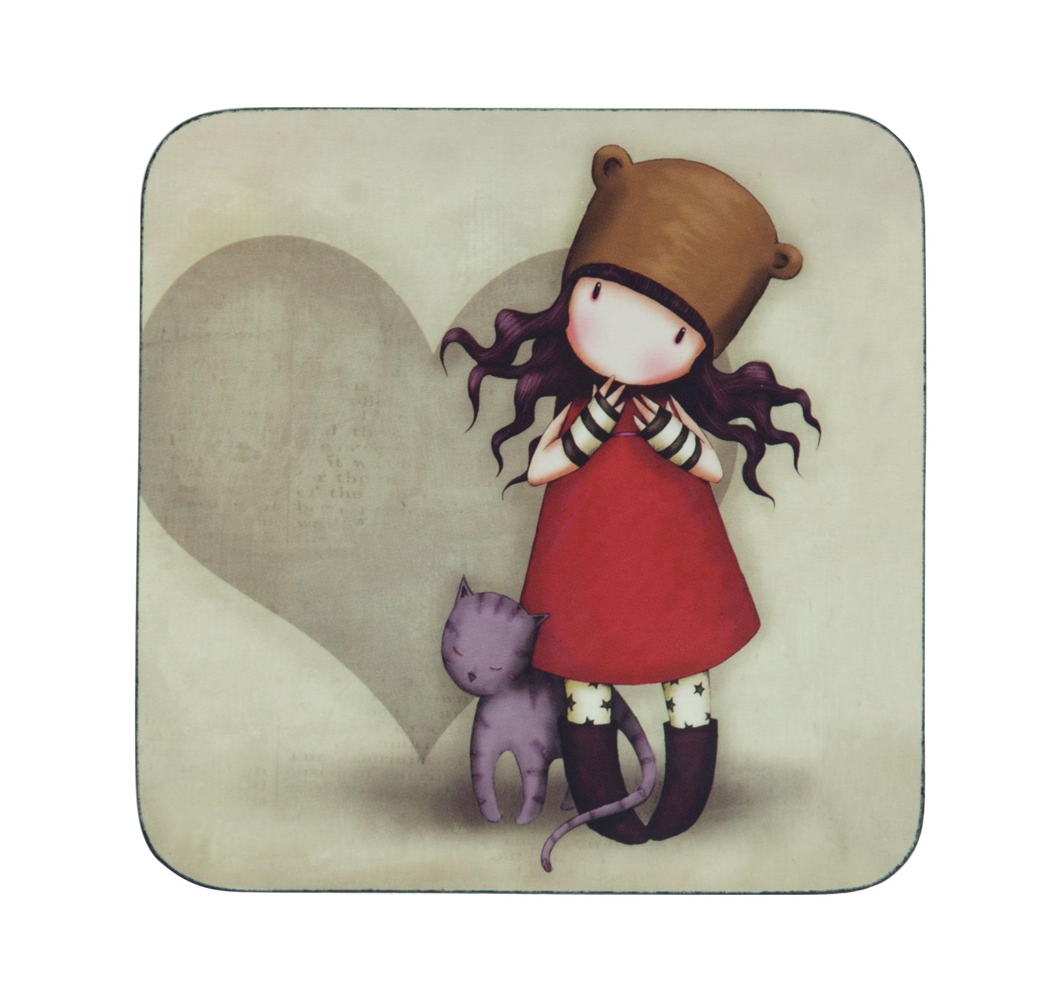 Gorjuss Coaster - Purrrrrfect Love