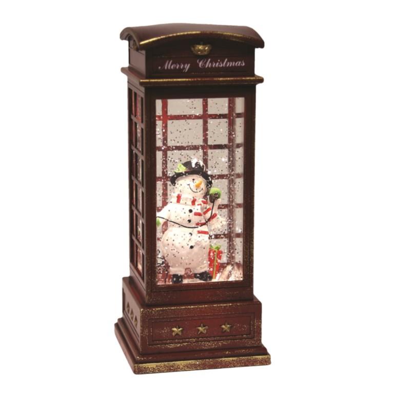 Snowman Phone Box Water Spinner