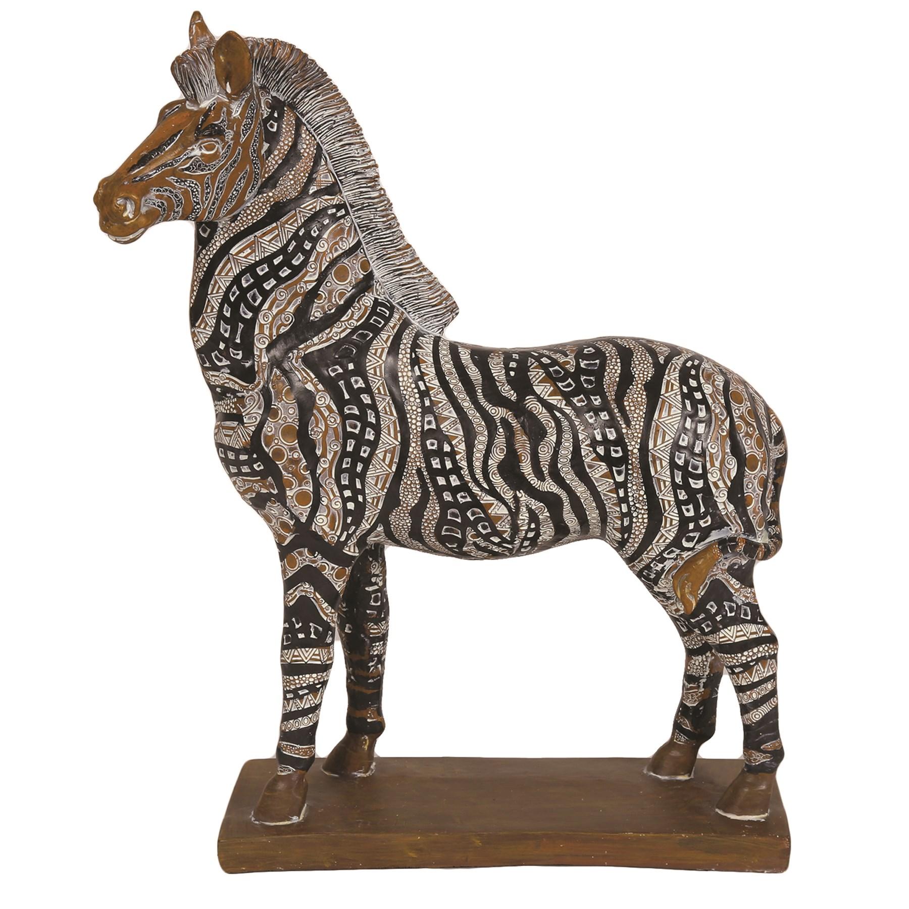 Decorative Resin Zebra 38cm