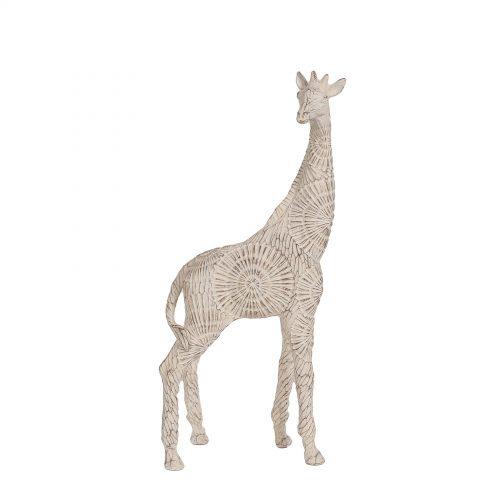 Etched Giraffe White 41cm