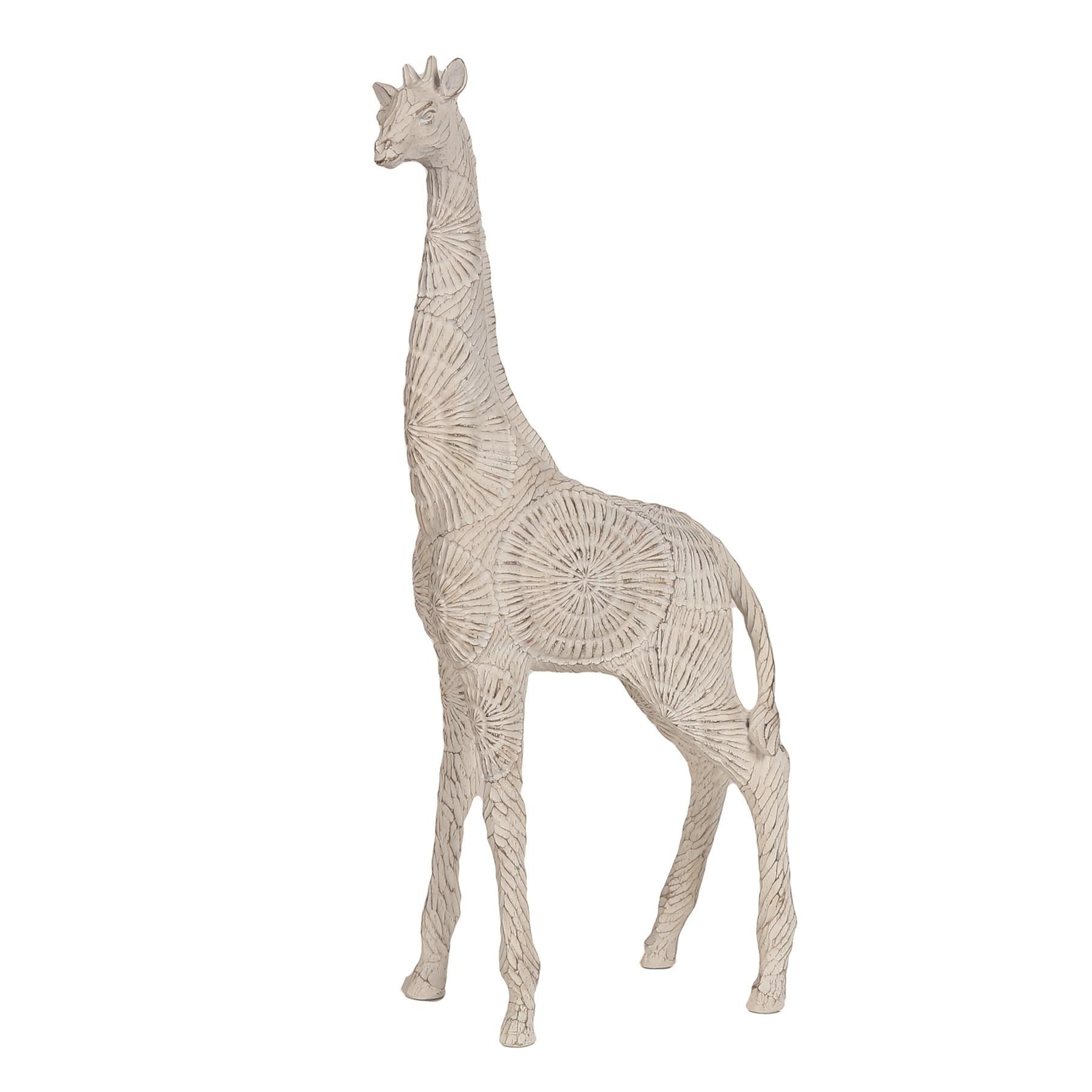 Etched Giraffe White 50cm