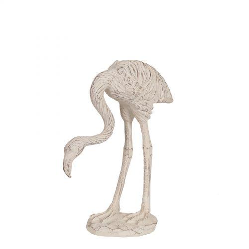 Etched Flamingo White 29cm