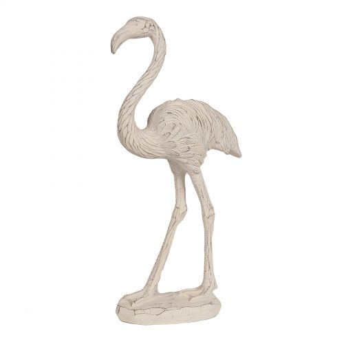 Etched Flamingo White 38cm