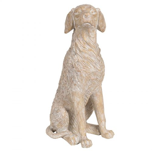 Decorative Etched Dog 38.5cm