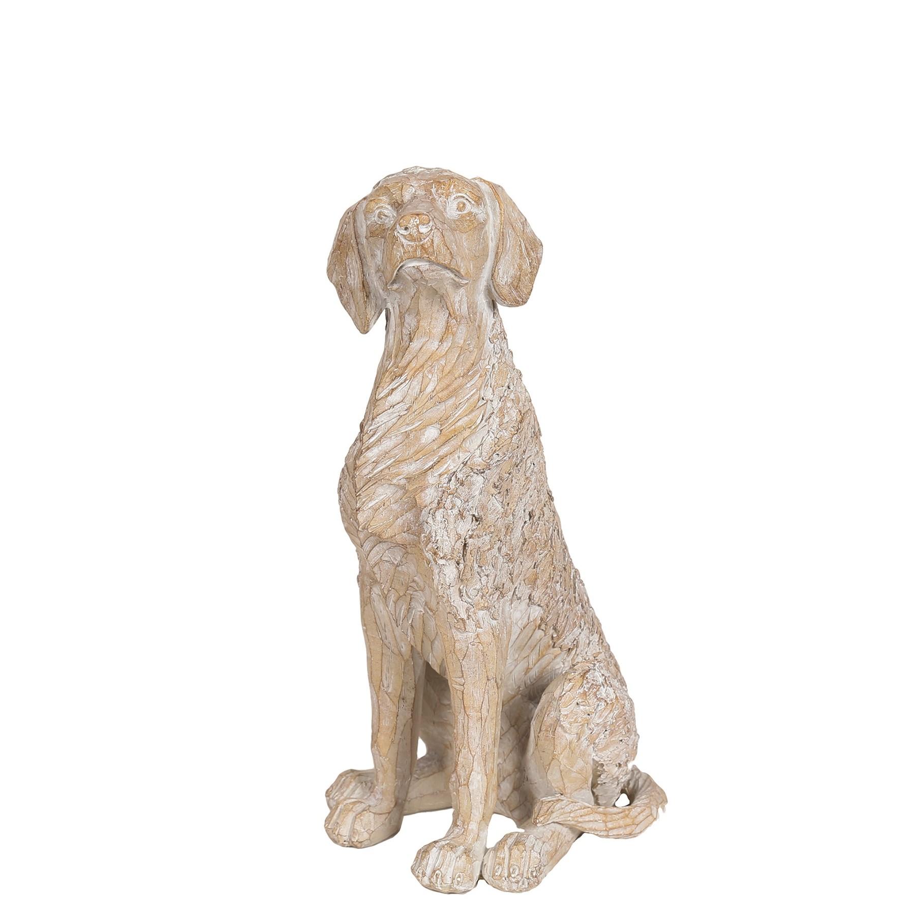 Decorative Etched Dog 28.5cm
