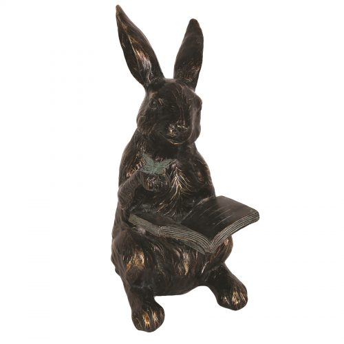 Rabbit Reading Figurine 24cm