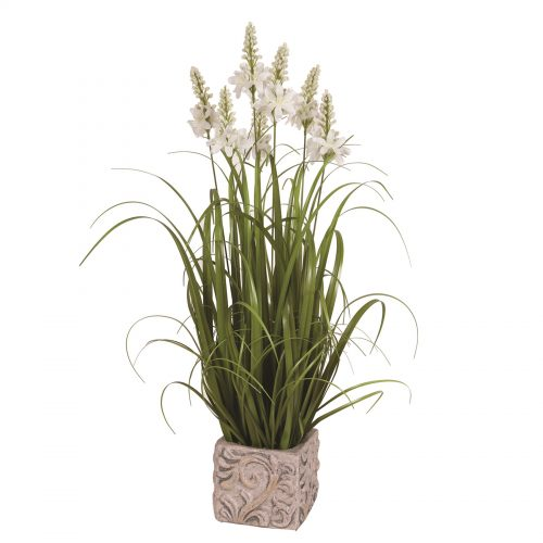 Floral Grass in Embossed Pot 80cm