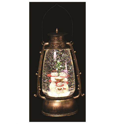 Snowman Glitter Lantern 24.5cm