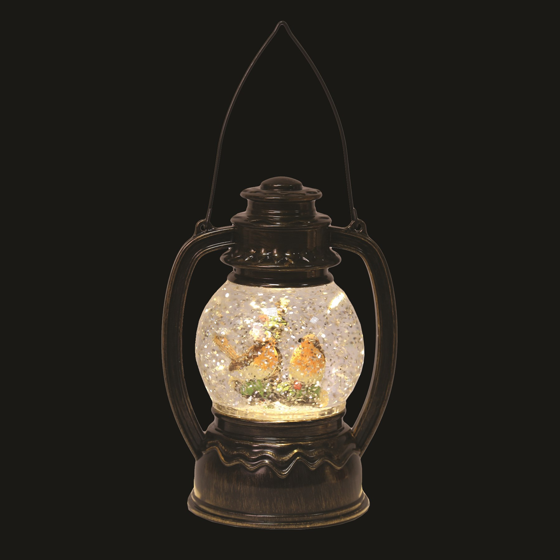 LED Robin Lantern Burnt Copper