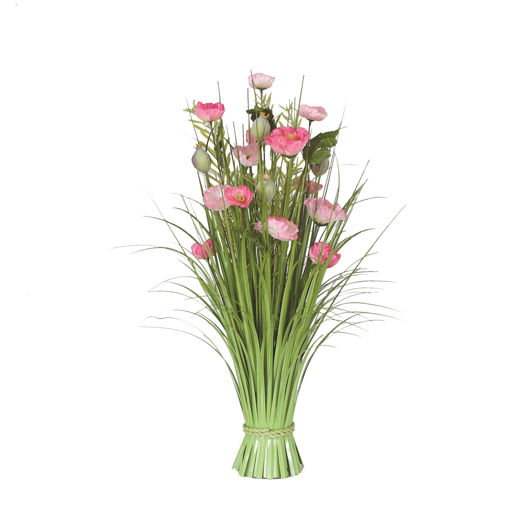 Grass Floral Bundle Poppy 70cm