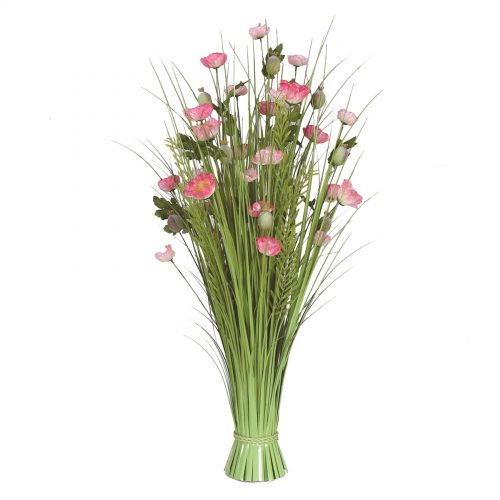 Grass Floral Bundle Poppy 100cm